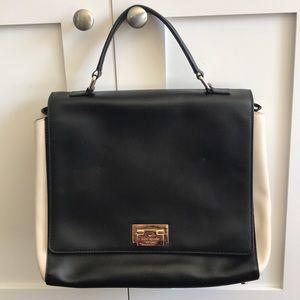 Kate Spade black and beige satchel bag crossbody